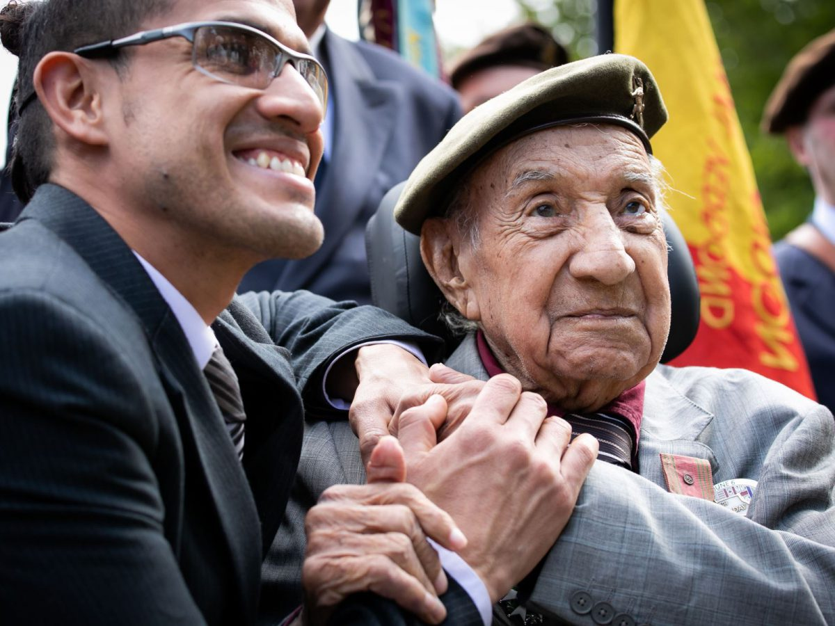 Un vétéran péruvien, de retour en Normandie 75 ans après la guerre